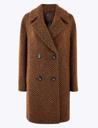 Marks and Spencer Herringbone Overcoat
