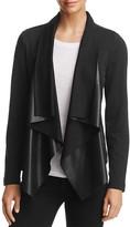 Splendid Faux Leather-Front Jacket