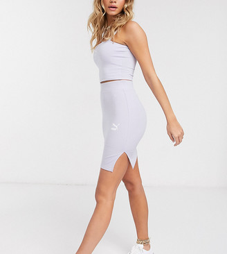 Puma ribbed mini skirt in lilac - exclusive to ASOS