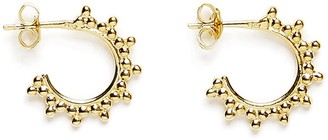Agnes de Verneuil Mini Hoops Earrings With Pearls - Gold