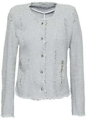 IRO Agnette Distressed Cotton Boucle-tweed Jacket