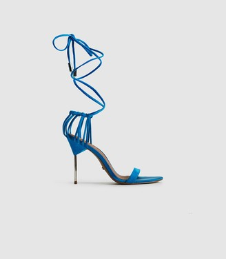 Reiss ZHANE SUEDE STRAPPY WRAP SANDALS Cobalt Blue