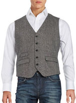 Original Penguin Textured Button-Front Vest