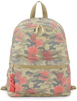 Peace Love World Camo & Rose Print Backpack