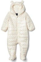 ColdControl bear zip footed one-piece