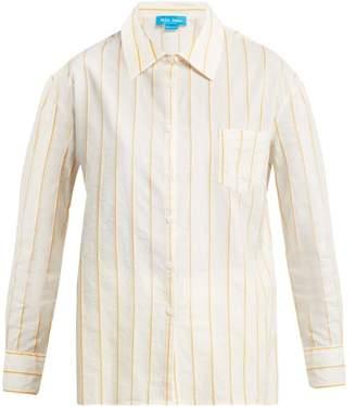 MiH Jeans Dylan Pinstriped Cotton Shirt - Womens - Yellow Stripe