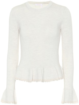 See by Chloe Peplum wool sweater