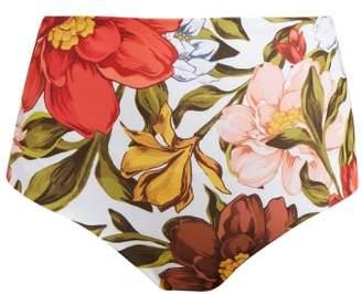 Mara Hoffman Lydia Floral-print High-rise Bikini Briefs - Womens - White Multi