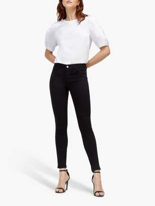 Warehouse Form Mid Rise Skinny Jeans, Black