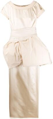 Versace Pre-Owned 1990s Puffball Waist Evening Dress