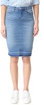 Blank Denim Miniskirt