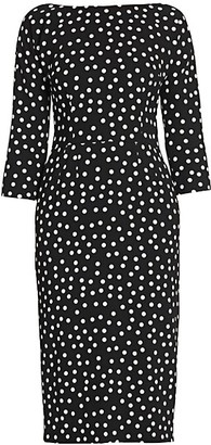 Dolce & Gabbana Three-Quarter Sleeve Polka Dot Dress