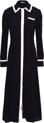 Emilia Wickstead Two-tone Crepe Midi Dress