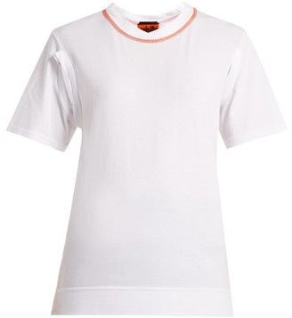 Colville - Cut-out Cotton Jersey T-shirt - White Multi