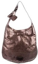Jimmy Choo Metallic Laser Cut Leather Hobo