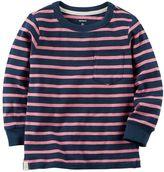 Carter's Boys 4-8 Long Sleeve Striped Pocket Tee