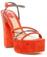 Brian Atwood Gigi Snake Embossed Platform Sandal