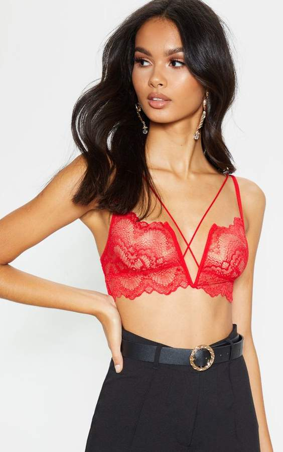 46e1a4273 Red Bralet - ShopStyle UK