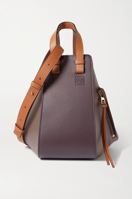 Loewe Hammock Medium Color-block Leather Shoulder Bag - Burgundy