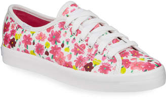 Keds x kate spade Kick Start Floral-Print Leather Sneakers