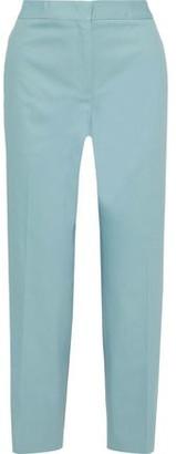 Jil Sander Cropped Cotton-blend Twill Straight-leg Pants