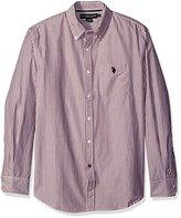 U.S. Polo Assn. Men's Long Sleeve Poplin Striped Sport Shirt