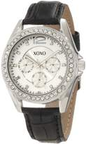 XOXO Women's XO3347 Rhinestones Accent Black Strap Watch
