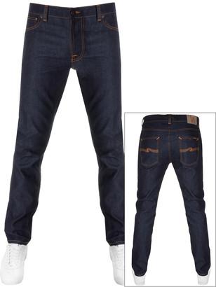 Nudie Jeans Lean Dean Slim Tapered Jeans Dips Blue