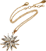 Amrita Singh Austrian Crystal & Goldtone Sunburst Pendant Necklace