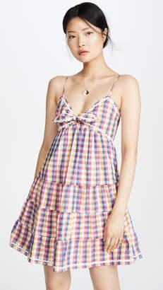 ENGLISH FACTORY Gingham Mini Dress