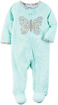 "Carter's Baby Girls' ""Floral Butterfly Split"" Footed Coverall"