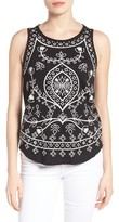 Lucky Brand Women's Eyelet Embroidered Cotton Tank