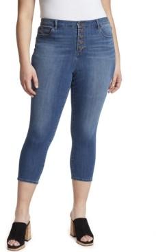 Skinnygirl Women's Plus High Rise Skinny Crop Jean