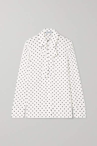 83b06807d37282 Silk Polka Dot Blouse - ShopStyle