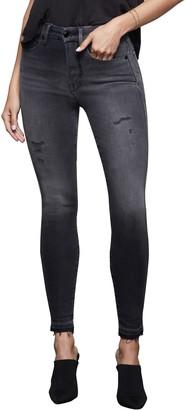 Good American Good Curve High Waist Raw Release Hem Skinny Jeans