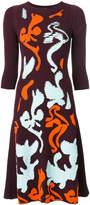 Versace Contrast Baroque knit dress