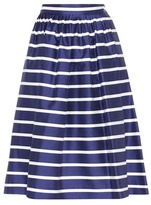 Polo Ralph Lauren Striped cotton and silk skirt