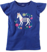 Carter's Embroidered Graphic T-Shirt, Toddler Girls (2T-4T)