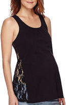 Asstd National Brand Maternity Crochet Lace Tank Top