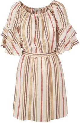 Kynthia Stripped Dress Terracotta