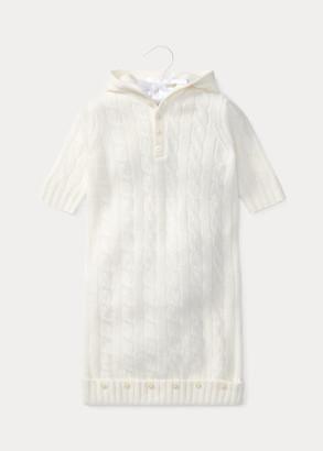 Ralph Lauren Cable-Knit Cashmere Bunting