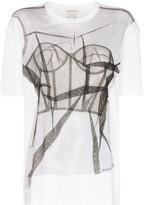 Alexander McQueen tulle print T-shirt