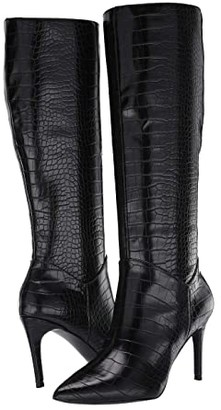 Steve Madden Kinga Knee High Boot (Black Croco) Women's Boots