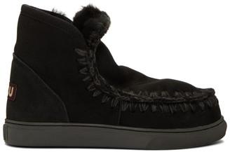 Mou Black Mini Sneaker Boots