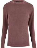 River Island Washed Pink Textured Jumper