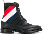 Thom Browne quilted stripe boots