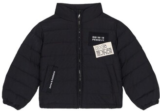 Dolce & Gabbana Kids Logo-Patch Padded Jacket (2-6 Years)