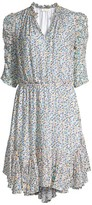 Shoshanna Alexandrina Ruffle Printed Dress