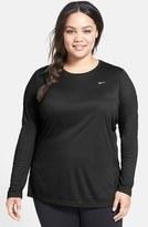 Nike 'Miler' Dri-FIT Long Sleeve Top (Plus Size)