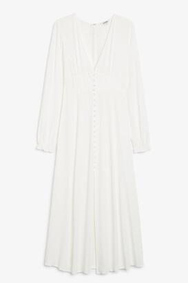 Monki Long-sleeve maxi dress
